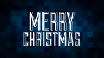 Christmas Pixels - Blue: Merry Christmas