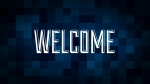Christmas Pixels - Blue: Welcome
