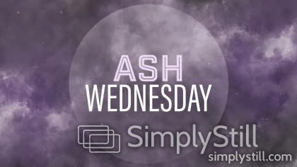 Ashes: Ash Wednesday Worship Slide