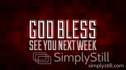 Christmas Pixels - Red: God Bless - See You Next Week Worship