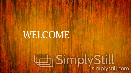 Fall Forest Blend: Welcome Worship Slide