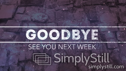 Stone Wall: Purple - Goodbye Worship Slide