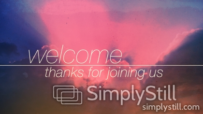 New Day Clouds: Welcome Worship Slide
