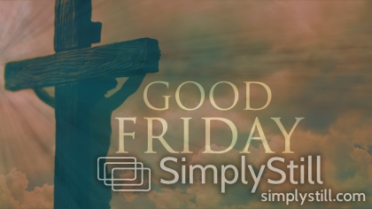 Good Friday Cross with Text Worship Slide