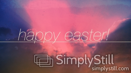 New Day Clouds: Happy Easter Worship Slide