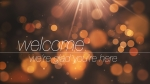 Abstract Bokeh Orange: Welcome