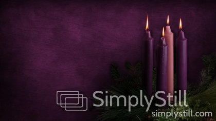 advent candles week 4 background simply still. Black Bedroom Furniture Sets. Home Design Ideas