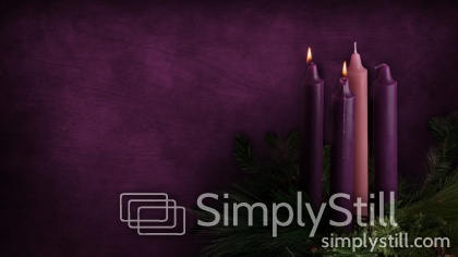 Advent Candle Background Advent Candles Week 2