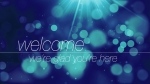 Abstract Bokeh Blue: Welcome