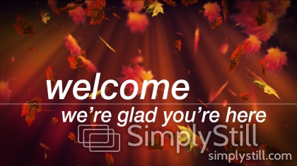 Fall Leaves: Welcome Worship Slide